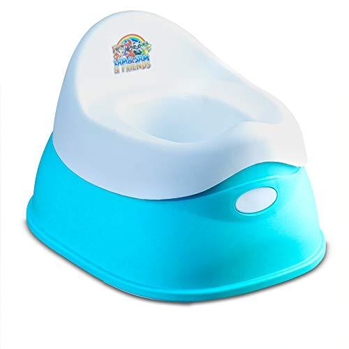 Lama Sam & Friends - vasino per bambini in 2 parti - Vasino da circa 18 mesi a circa 3 anni, funzione antiscivolo (Acqua - Modello 2019)