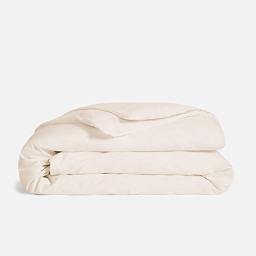 Mayfair Linen 600 Thread Count Ivory Queen Duvet Cover Set, 100% Long Staple Egyptian Cotton Quilt Cover Queen/Full Size, Silky Soft, Breathable with Hidden Zipper Closure.