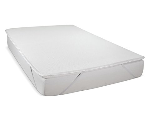 Serenia Sleep Dunlop Latex 2-Inch Easy Flip Mattress Pad Topper with Cover, King