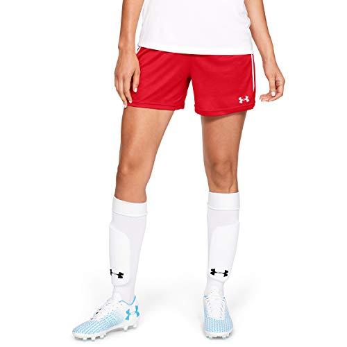 Under Armour Damen Maquina 2.0 Soccer Shorts, Rot (600)/Weiß, Medium