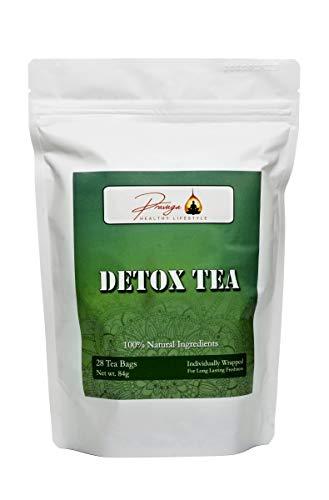 Pravaga Detox Tea | Herbal Cleanse | Immunity Boost | All Natural Ingredients | Oolong Tea with Powerful Herbs (28 Tea Bags)
