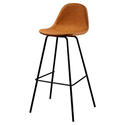 WGEMXC Stühle, Hochstühle, Barstühle, Hocker Höhe Barhocker-Stühle Mit Rücken- Und Fußstütze Frühstück Vintage Küchencafé, Rutschfeste Matte,65 cm,65 cm
