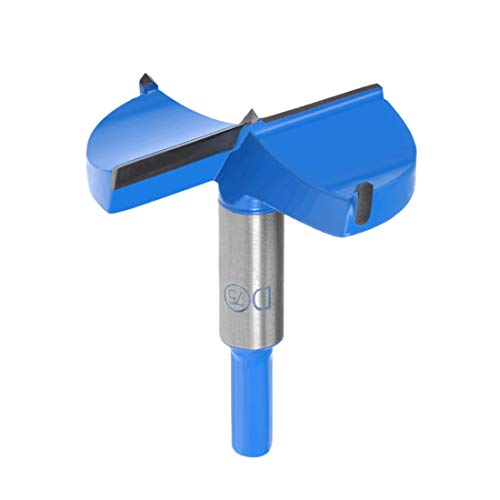 sourcingmap Forstner Drill Bits 75mm, Tungsten Carbide Wood Hole Saw Auger Opener, Woodworking Hinge Hole Drilling Boring Bit Cutter (Blue, Gray)