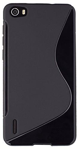 mumbi Hülle kompatibel mit Honor 6 Handy Case Handyhülle, schwarz - 5