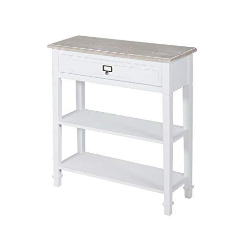 Kintness Console Table for Entryway Hallway with Drawers and Storage Shelf End Accent Table Furniture for Living Room Bedroom White