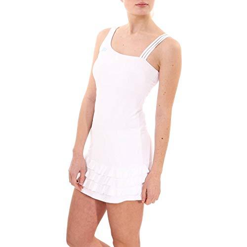 Sportkind Mädchen & Damen Tenniskleid mit Rüschen, Weiss, Gr. 164