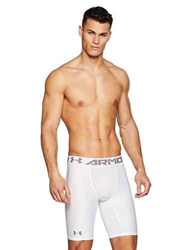 Under Armour HeatGear 2.0 Long Shorts, Pantaloni Corti Uomo, Bianco (White/Graphite 100), M