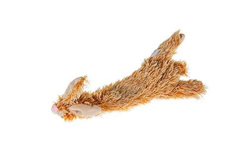 Karlie 521347 Plüschspielzeug Flatinos Hase L: 30 cm braun