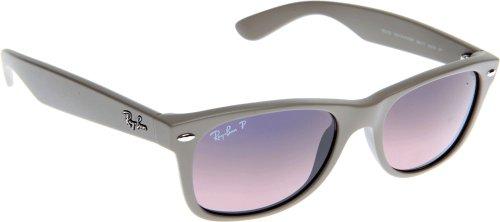 Ray Ban Für Mann Rb2132 New Wayfarer Matte Beige / Blue Gradient Pink (Polarized) Kunststoffgestell Sonnenbrillen, 55mm