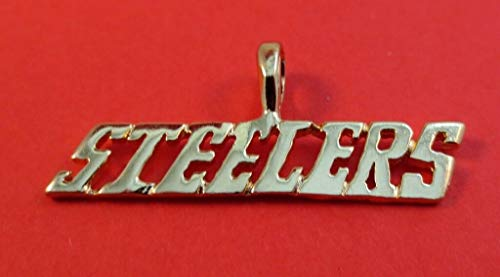 Sports Team 14KT Gold EP Steelers Charm Pendant RE-392