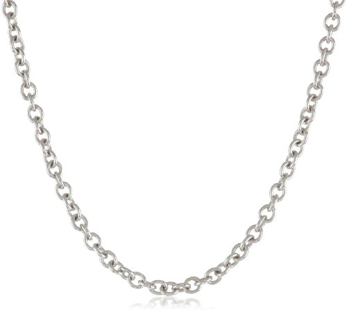 Hot Sale 14k White Gold 1.5mm Rolo Chain Necklace, 18""