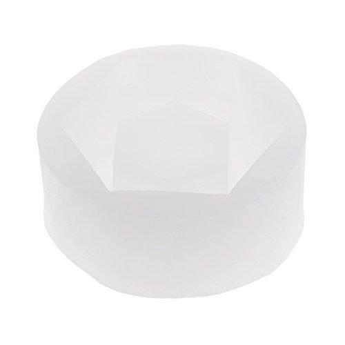 D DOLITY hexagonale Forma Silicona Forma Pasteles Molde Silicona Forma Fundición para Joyas Fundición para Resina de moldes para Hacer portavelas, Chocolate Fabricación