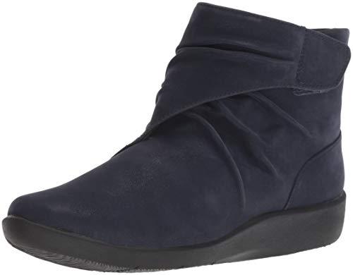 Clarks Women's Sillian Tana Fashion Boot, Navy Synthetic Nubuck, 110 M US