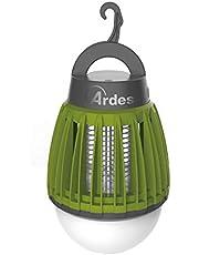 Ardes Zappy AR6S02L muggennet, compact, draagbaar, met led-licht en lamp, 100 lumen, koud licht, ideaal voor camping, terras, boot, strand, groen