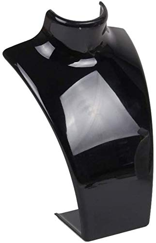 KEEBON Joyery Rack Precs Mostrar Estante Pantalla Soporte Soporte Joyería Acrílico Joyería Pantalla de joyería para Collares Pendientes Pendientes (Color: Negro, Tamaño: 7.2x6.3x20cm)