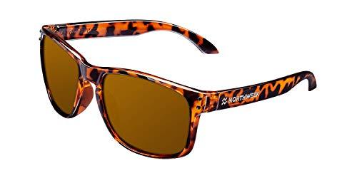 Northweek Bold Gafas de sol, Shine Tortoise Brown, 45 Unisex