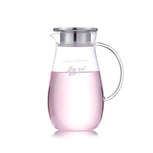 DX Glazen kan 1300 ml, ijs gemakkelijk te reinigen, gemakkelijk te reinigen, gemakkelijk te drinken Theepot glas (kleur: A)