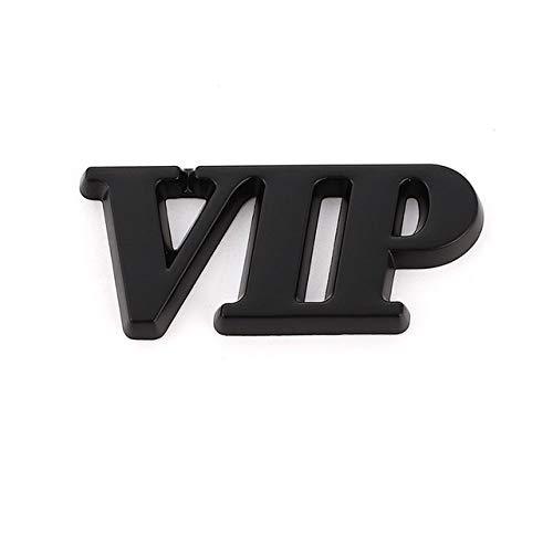 TWGDH Etiqueta engomada del Logotipo del Emblema del Coche Auto Insignia VIP 3D Etiqueta engomada del Metal for la decoración del Coche (Color Name : Black VIP)