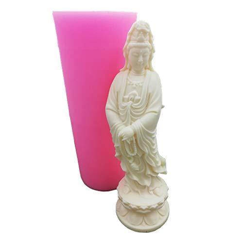 HONGTAI Kerze-Form-Silikon-Formen for Kerzenwachs Aroma Gips Gipsform Keramik-Harz-Lehm-Crafts-Formen