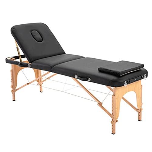 HuaBiao Table De Massage Cosmétique Lit De Massage Kiné Pliante 3-Section Professionnel Portable...