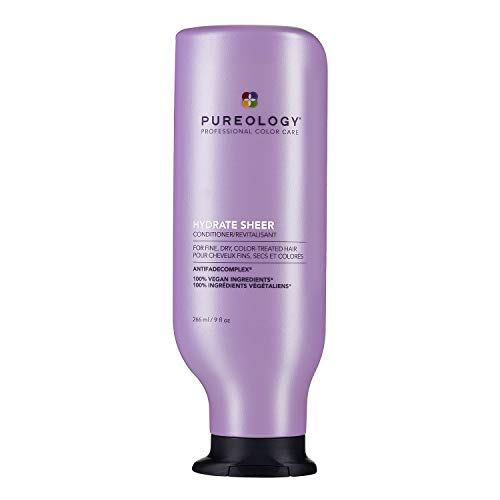 Pureology Hydrate Sheer Conditioner | For Fine, Dry, Color-Treated Hair | Lightweight Hydrating Conditioner | Silicone-Free | Vegan | Updated Packaging | 9 Fl. Oz