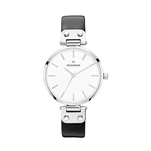 Mockberg Damen Digital Quarz Uhr mit Leder Armband MO1002
