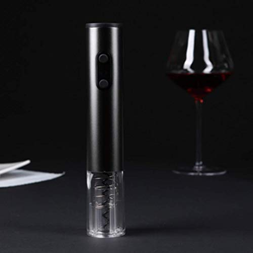 WANNA.U Bottle Opener Red Wine Electric Bottle Opener Transparent Window Aluminum Foil Knife Does Not Include Four 5A Battery-Powered Cordless Batteries The Best Gift for Wine Lovers