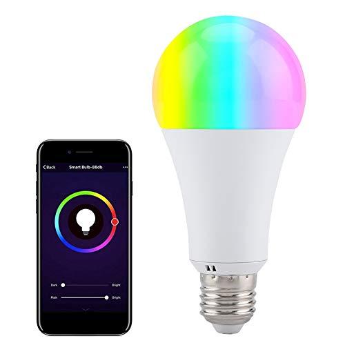 Bombilla de luz RGB, E27 Socket RGB-CW LED Iluminación de Color Bombilla...