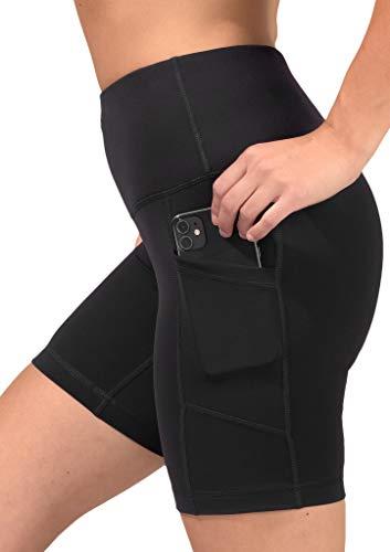 90 Degree By Reflex - High Waist Power Flex Biker Shorts with Side Pockets - 5