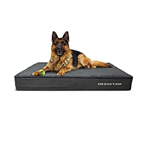 """Replacement Outer Cover ONLY (Outer Cover ONLY – NO Bed, NO Waterproof Inner) for The Dog's Bed, Washable Quality Plush Fabric, Large 40"""" x 25"""" x 6"""" (Grey Plush)"""