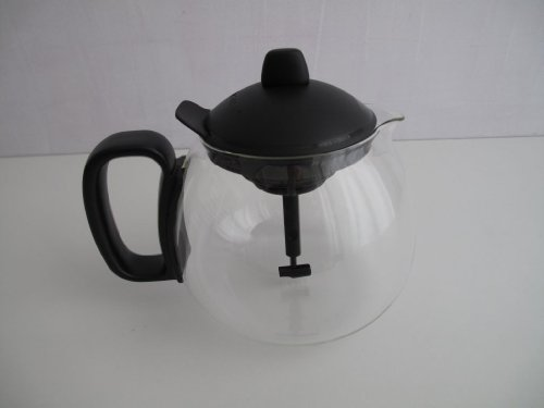 TUPPERWARE Exclusiv Teekanne 1,3 L schwarz Tee Kanne Glas