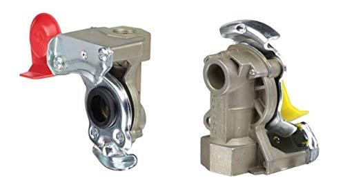 Fahrzeugbedarf Wilms Set Kupplungskopf Standard gelb & rot für Bremse/Vorrat M16 LKW Anhänger Auflieger