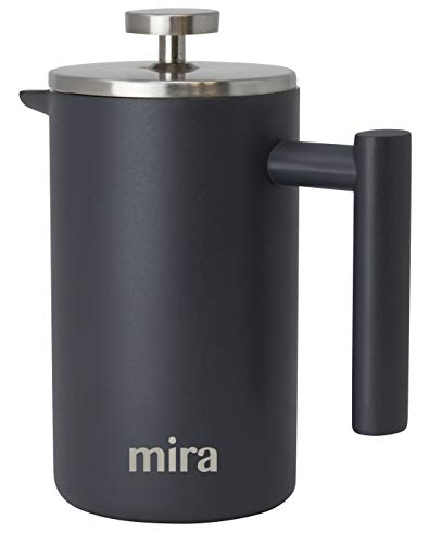 MIRA 20 oz Stainless Steel French Press Coffee Maker   Double Walled   600 ml
