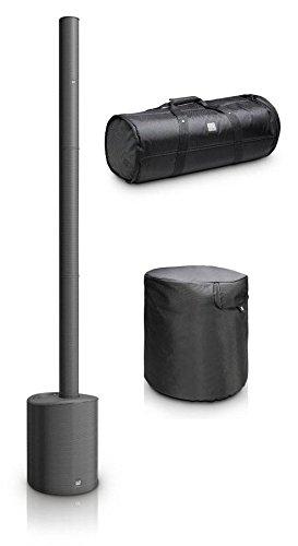 LD-Systems Maui 5 Aktivanlage Set (Ultrakompakte Säulen-PA, 800 Watt Spitzenleistung, integrierter 4-Kanal-Mixer mit Bluetooth, Set inkl. Tragetasche und Schutzhülle)