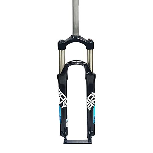 CAREXY Forcella per Bici MTB, 26 27.5 29 Pollici in Lega di Alluminio Ammortizzatore per Bicicletta Forcella Meccanica Tubo Dritto Viaggio 100Mm Parti della Bici,Black 4,26