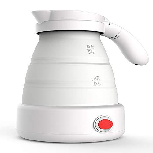 YRYBZ Faltbare Reise Elektrischer Wasserkessel, Mini Tragbar Silikon Zusammenklappbar Wasserkocher, BPA-freies, 0.6L, Dual Voltage 110-120V/220-240V, 700-1150W