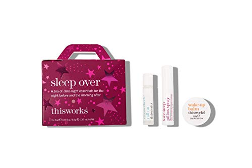 thisworks Sleep Over 2020 Holiday Set: stress check roll-on, love sleep pillow spray & wake-up balm