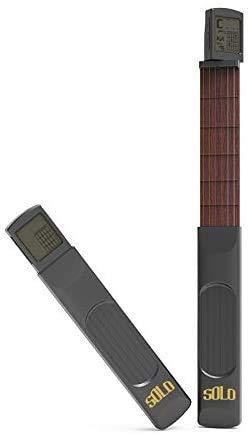 Guitarra digital de bolsillo para entrenamiento, herramienta de práctica para principiantes/portátil con pantalla de tabla de acordes giratoria.