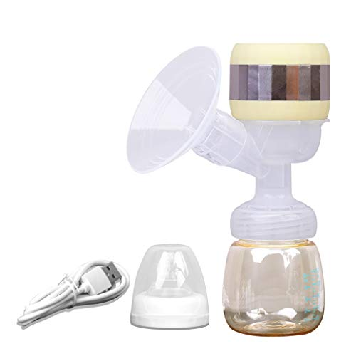 Lcb Milchpumpe Elektrische Brustpumpe, einteilig, Laktation Massage volle Silikon-Brustpumpe, USB aufladbar, mit Verstellbarer Massage Absaugung, wiederverwendbar, geeignet for die Mutter des Stillen
