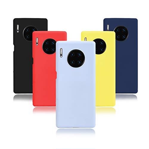 KZIOACSH 5×Cover Huawei Mate 30 PRO/Mate 30 PRO 5G,Morbido Silicone Sottile Morbido TPU Protettivo Custodia [Rosso + Giallo + Nero + Azzurro + Blu Scuro]