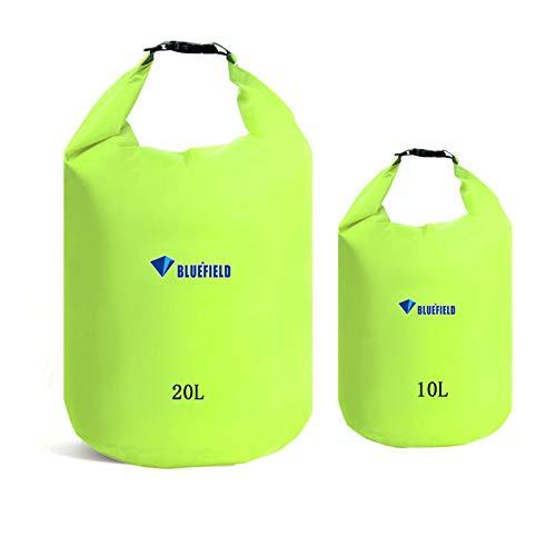 2 Piezas Dry Bag Mochila Impermeable Mochila Seca Impermeable Bolsas Impermeable Premium Estancas Bolsa de Deporte para Seca Viajar Rafting Running Navegación Kayak Canotaje Camping Snowboard10L 20L