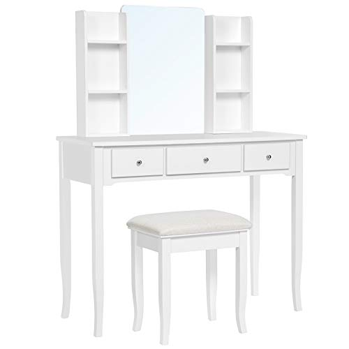 Combined Shelf Mirror Vanity Set