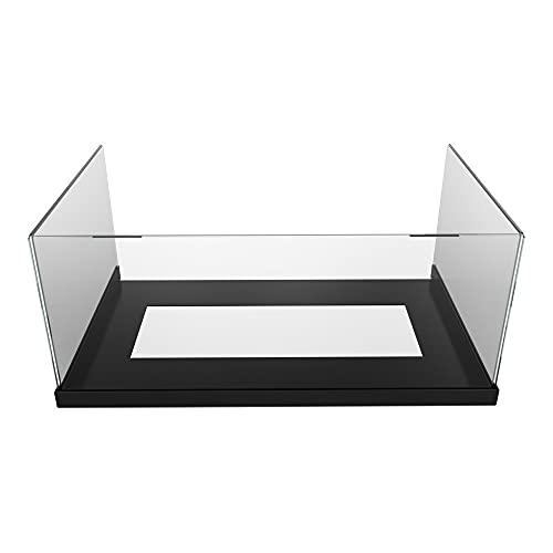 KRATKI Kaminverglasung, Sierra Glas, 3X Kaminglas 4 mm dick mit schwarz pulverbeschichtetem Blechfuß, hitzebeständig