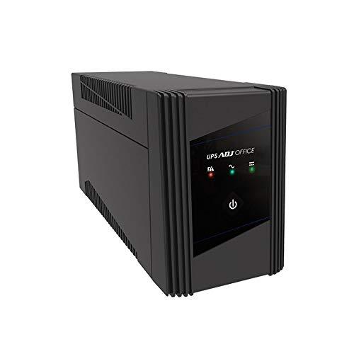ADJ Serie Office 900VA Gruppo di Continuità Line Interactive Ups 570 Watt Onda Sinusoidale Simulata AVR 2 Uscite Schuko USB 1 Batteria 12V 5Ah (LxWxH 292x100x140 mm)