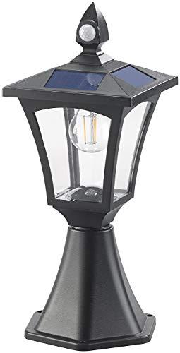 Royal Gardineer Gartenlampe: Solar-LED-Stand- & Wandlaterne, PIR-Sensor, Dämmerungssensor, 300 lm (Solarleuchte mit Bewegungsmelder)