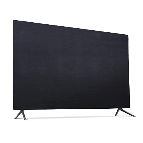 "Indoor TV Set Cover, Soft Lycra Fabric Universal 32"" Flat Screen Dust-Proof Protector (32', Black)"