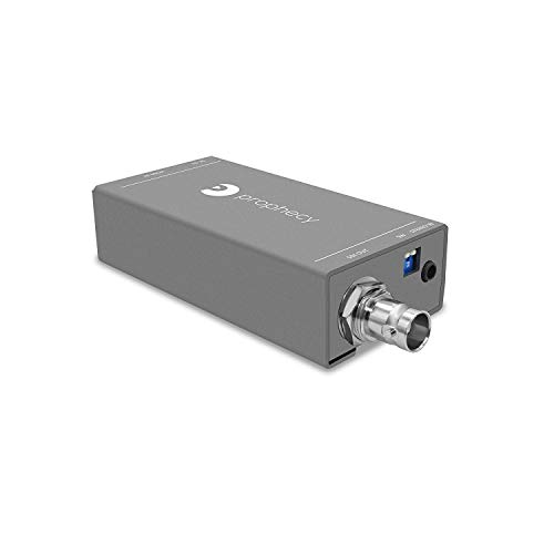 gofanco Prophecy HDMI to SDI Converter with Audio Embedder – 3G/HD/SD-SDI Auto Format Detection, Stereo Audio Embedder (Pro-HDSDIaud)