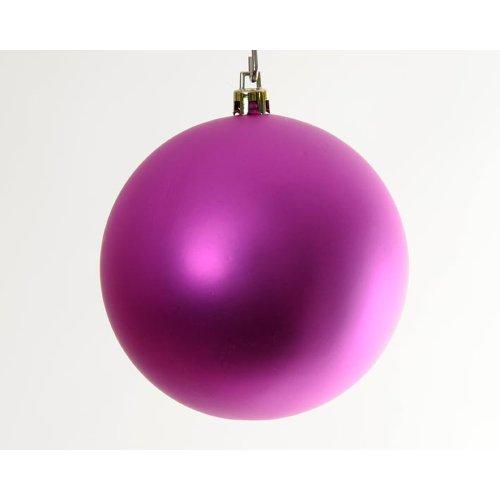 Hab&Gut -XB002- Weihnachtsbaum Kugeln, Durchmesser: 10cm, 6er Set,Farbe: pink