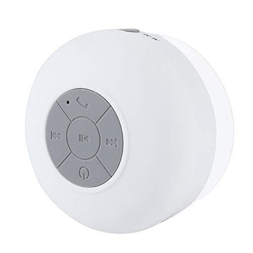 Mini-Bluetooth-Lautsprecher für Outdoor / Indoor, tragbarer wasserdichter, drahtloser Bluetooth-Lautsprecher - spezielles Saugnapf-Design - eingebautes Mikrofon - ein Ständer für das Tablet( Weiß )