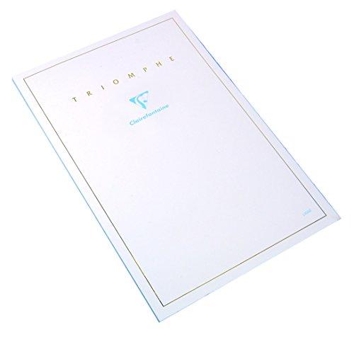 Clairefontaine 6120C - Un bloc de correspondance Triomphe 50 feuilles unies blanches 14,8x21 cm 90g